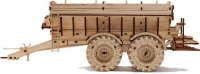 Kirovets assembled wood toy (Kirovets tractor and trailer with garage)